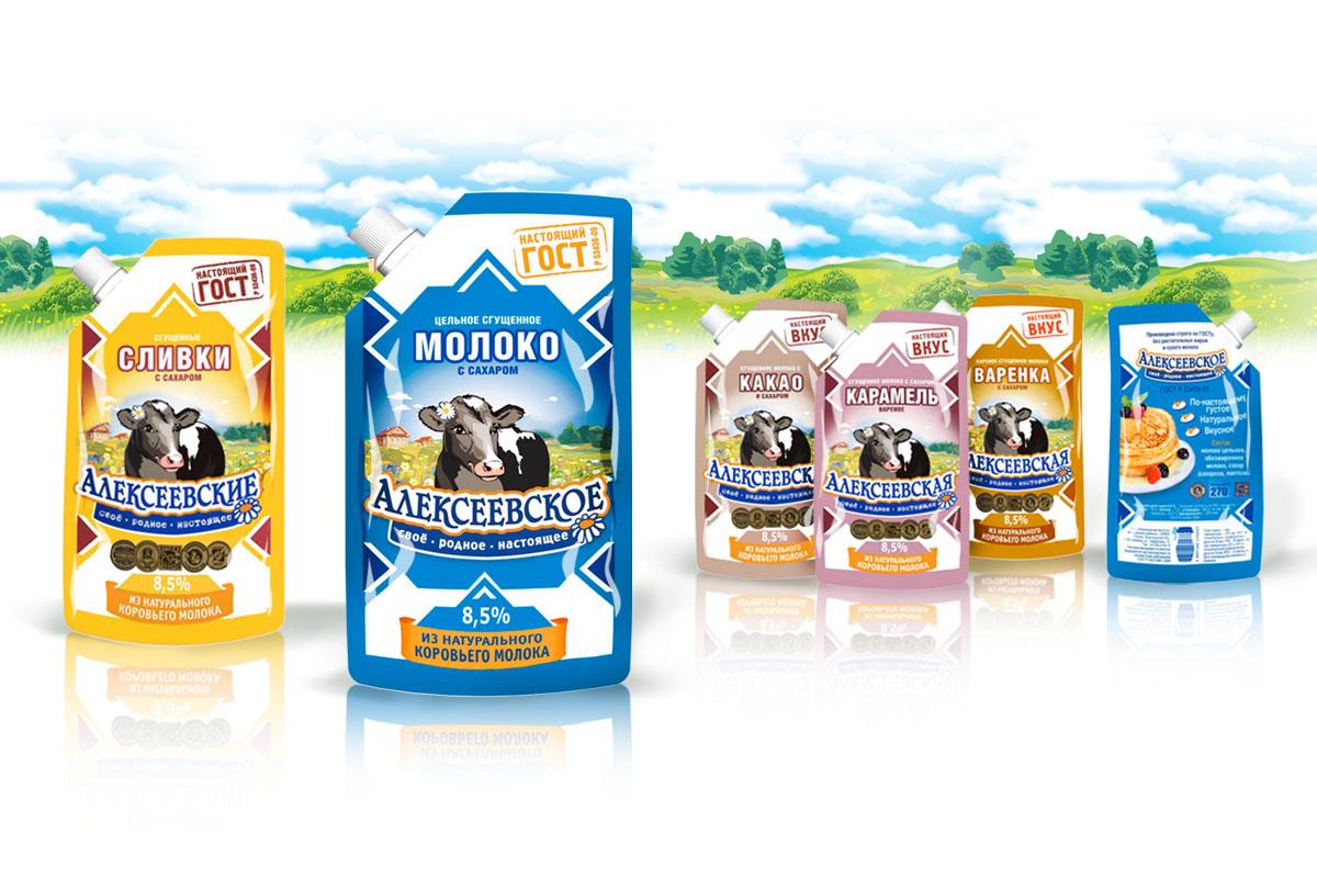 Алексеевское – сгущенное молоко – редизайн упаковки и торговой марки – Leyton Group