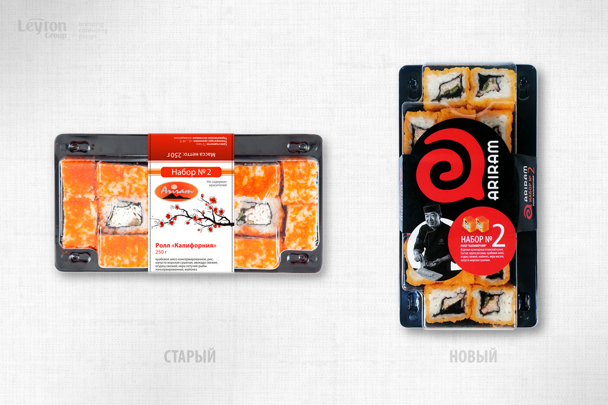 Арирам – суши и роллы в новом оформлении – Leyton Group