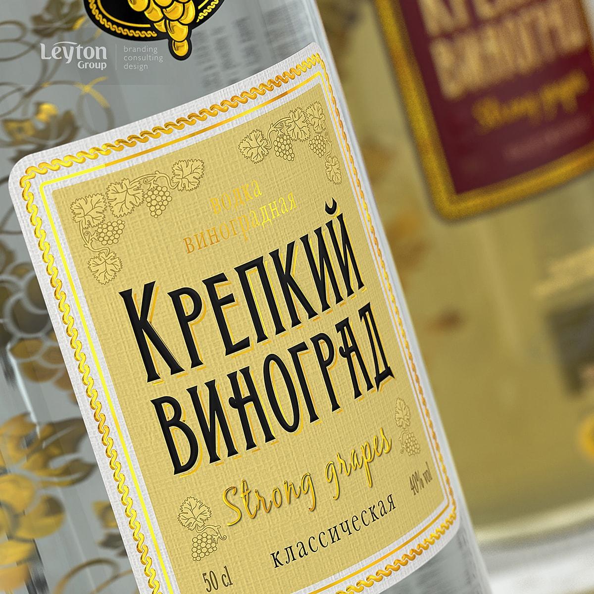 Крепкий Виноград – водка – дизайн – Leyton Group